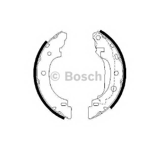 Комплект тормозных колодок 0986487570 bosch - NISSAN KUBISTAR фургон фургон 1.5 dCi