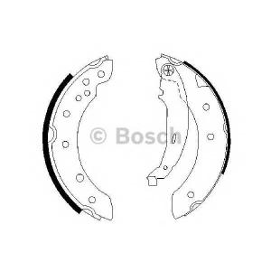 Комплект тормозных колодок 0986487585 bosch - RENAULT CLIO II (BB0/1/2_, CB0/1/2_) Наклонная задняя часть 1.5 dCi (B/CB3N)