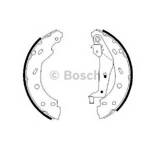 BOSCH 0986487600 Гальмівні колодки барабанні (ручник) SMART/Сabrio/City-Coupe \0.6-0.7I\98-07