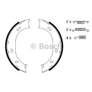 Комплект тормозных колодок, стояночная тормозная с 0986487610 bosch - MERCEDES-BENZ G-CLASS (W463) вездеход закрытый G 500 (463.247, 463.248, 463.249, 463.240, 463.421)