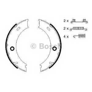 BOSCH 0986487611 Гальмівні колодки барабанні AUDI| DAF| MERCEDES| VW