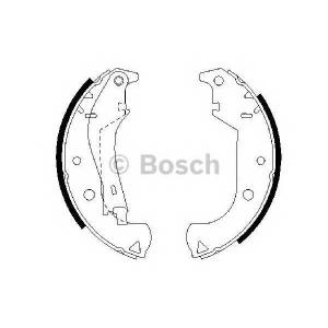 BOSCH 0986487626 Гальмівні колодки барабанні FIAT Doblo/Albea/Siena/Petra -05