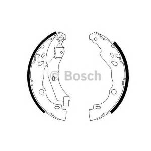 BOSCH 0 986 487 627 Колодка торм. барабан. DACIA LOGAN, RENAULT CLIO (пр-во Bosch)