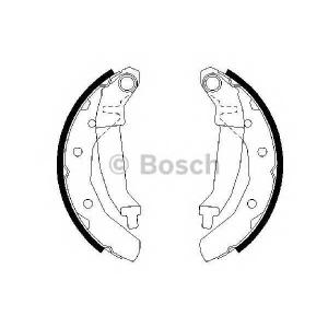 Комплект тормозных колодок 0986487628 bosch - CHEVROLET MATIZ (M200, M250) Наклонная задняя часть 0.8 LPG