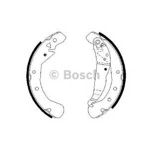 Комплект тормозных колодок 0986487658 bosch - VAUXHALL ASTRA Mk V (H) универсал универсал 1.7 CDTI