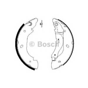 BOSCH 0986487660 Гальмівні колодки барабанні FORD Transit -06