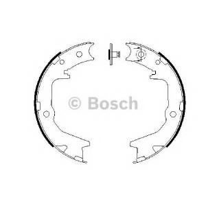 Комплект тормозных колодок, стояночная тормозная с 0986487683 bosch - MITSUBISHI SPACE WAGON (N9_W, N8_W) вэн 2.4 GDI 4x4