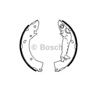 Комплект тормозных колодок 0986487697 bosch -