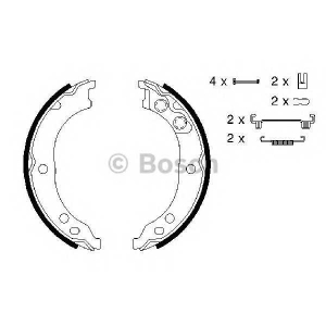 BOSCH 0 986 487 712 Комплект тормозных колодок, стояночная тормозная система
