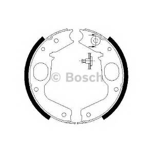 BOSCH 0986487719 Гальмівні колодки барабанні MITSUBISHI Challenger/L400/Montero/Montero Sport/Pajero/Pajero Sport/Sh