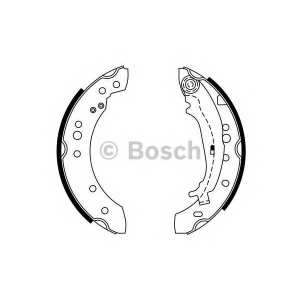 BOSCH 0 986 487 746 Колодка торм. MITSUBISHI COLT (пр-во Bosch)