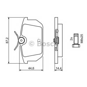 BOSCH 0 986 491 030 Комплект тормозных колодок, дисковый тормоз