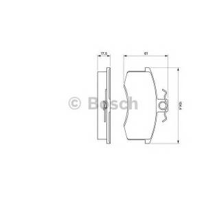 Комплект тормозных колодок, дисковый тормоз 0986491700 bosch - LADA SAMARA (2108, 2109) Наклонная задняя часть 1300