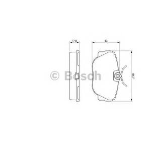 BOSCH 0 986 491 730 Торм колодки дисковые (пр-во Bosch)