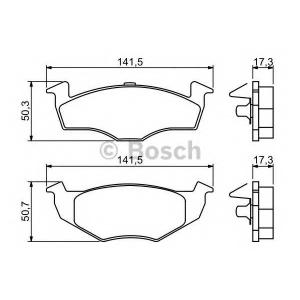 BOSCH 0986494005 Гальмівні колодки дискові SEAT Arosa/SKODA Fabia/VW Polo/Lupo -07