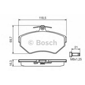 Комплект тормозных колодок, дисковый тормоз 0986494010 bosch - VW GOLF III (1H1) Наклонная задняя часть 2.0 Syncro (1HX1)