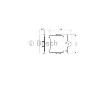 0986494016 bosch Комплект тормозных колодок, дисковый тормоз MERCEDES-BENZ E-CLASS седан E 250 Turbo-D (210.015)