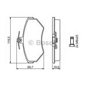 Комплект тормозных колодок, дисковый тормоз 0986494021 bosch - VW PASSAT (3B2) седан 1.9 TDI