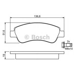 0986494027 bosch Комплект тормозных колодок, дисковый тормоз CITROËN XSARA Наклонная задняя часть 1.9 D