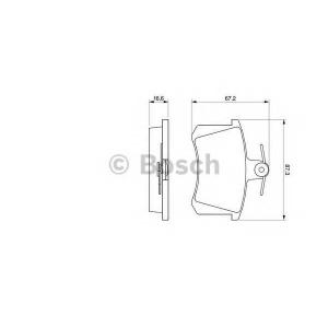 BOSCH 0986494059 Гальмівні колодки дискові ALFA ROMEO/AUDI/FIAT -00