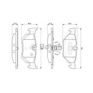 Комплект тормозных колодок, дисковый тормоз 0986494061 bosch -