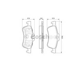 Комплект тормозных колодок, дисковый тормоз 0986494063 bosch - MINI MINI (R50, R53) Наклонная задняя часть One