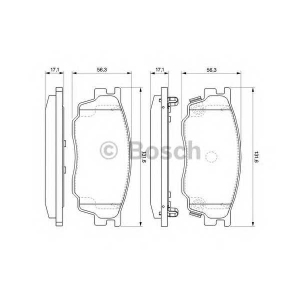 Комплект тормозных колодок, дисковый тормоз 0986494078 bosch - MAZDA 6 Hatchback (GG) Наклонная задняя часть 1.8