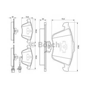 BOSCH 0986494103 Гальмівні колодки дискові AUDI S3/TT/Leon/VW Passat/Golf IV/V -08