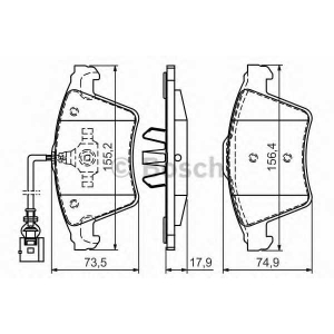 BOSCH 0 986 494 107 Тормозные колодки (пр-во Bosch)