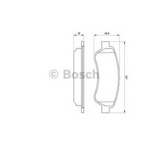 Комплект тормозных колодок, дисковый тормоз 0986494110 bosch - FIAT DUCATO автобус (250) автобус 115 Multijet 2,0 D