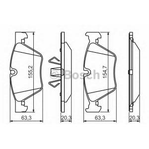Комплект тормозных колодок, дисковый тормоз 0986494117 bosch - BMW 3 Touring (E91) универсал 316 d