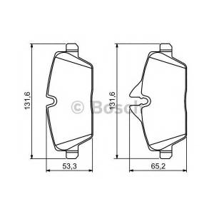 Комплект тормозных колодок, дисковый тормоз 0986494120 bosch - MINI MINI (R56) Наклонная задняя часть Cooper