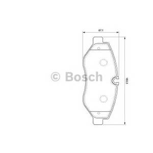 BOSCH 0986494121 Тормозные колодки дисковые передние DB Sprinter 06