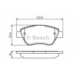Комплект тормозных колодок, дисковый тормоз 0986494132 bosch - FIAT ALBEA (178_) седан 1.2