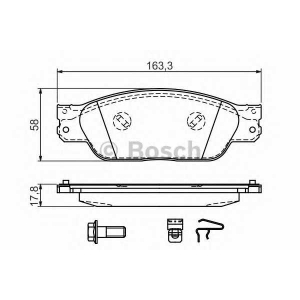 Комплект тормозных колодок, дисковый тормоз 0986494141 bosch - JAGUAR S-TYPE (CCX) седан 3.0 V6