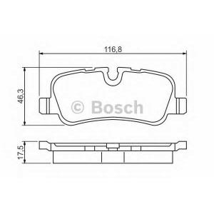 BOSCH 0986494148 Гальмівні колодки дискові Land Rover