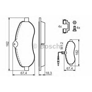 �������� ��������� �������, �������� ������ 0986494163 bosch - FIAT SCUDO ������ (270_) ������ 2.0 D Multijet