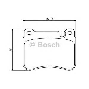 Комплект тормозных колодок, дисковый тормоз 0986494166 bosch - MERCEDES-BENZ C-CLASS (W203) седан C 240 (203.061)