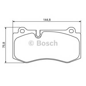 BOSCH 0 986 494 167 Тормозные колодки (пр-во Bosch)