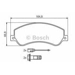 Комплект тормозных колодок, дисковый тормоз 0986494170 bosch - FORD TRANSIT автобус автобус 2.2 TDCi