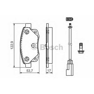 Комплект тормозных колодок, дисковый тормоз 0986494171 bosch - FORD TRANSIT c бортовой платформой/ходовая часть c бортовой платформой/ходовая часть 2.2 TDCi