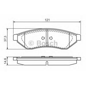 Комплект тормозных колодок, дисковый тормоз 0986494172 bosch - DAEWOO EVANDA (KLAL) седан 2.0