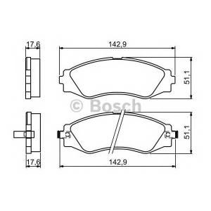 BOSCH 0 986 494 173 Тормозные колодки дисковые (пр-во Bosch)