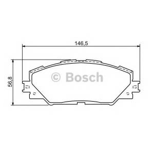 Комплект тормозных колодок, дисковый тормоз 0986494174 bosch - TOYOTA PRIUS PLUS (ZVW4_) вэн 1.8 Hybrid