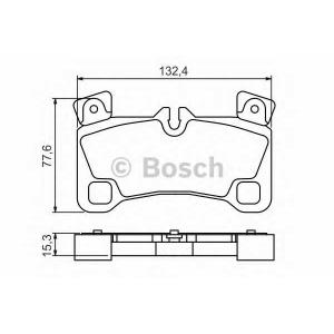 0986494205 bosch Комплект тормозных колодок, дисковый тормоз AUDI Q7 вездеход закрытый 3.0 TDI