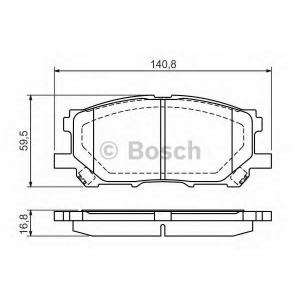 Комплект тормозных колодок, дисковый тормоз 0986494218 bosch - LEXUS RX (MHU3_, GSU3_, MCU3_) вездеход закрытый 300