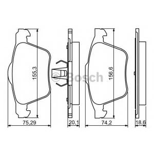 Комплект тормозных колодок, дисковый тормоз 0986494245 bosch - VOLVO XC70 II универсал 3.2 AWD