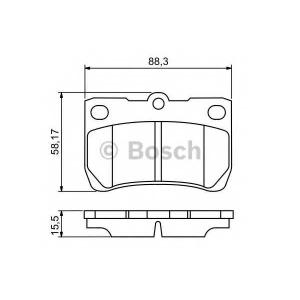 Комплект тормозных колодок, дисковый тормоз 0986494253 bosch - LEXUS IS II (GSE2_, ALE2_, USE2_) седан 350