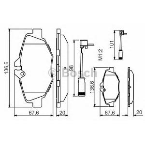 BOSCH 0 986 494 285 Тормозные колодки (пр-во Bosch)