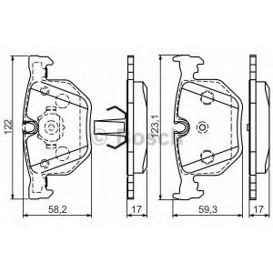 BOSCH 0986494286 Гальмівні колодки дискові BMW E65 E66